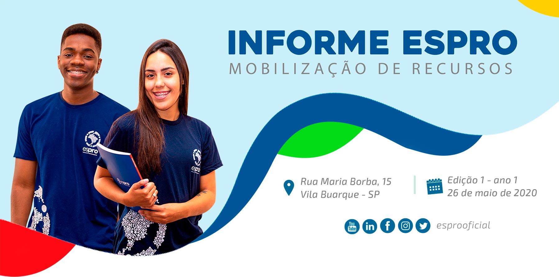 Boletim 1 | Espro Mobilização de Recursos