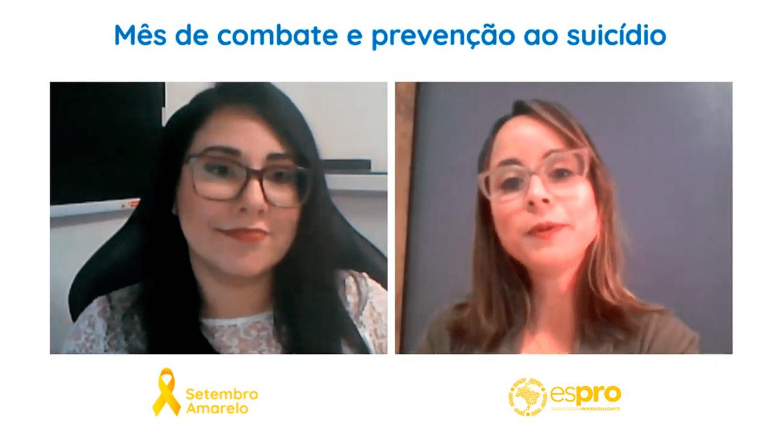 Aprendizes Espro terão interação com o CVV na campanha Setembro Amarelo