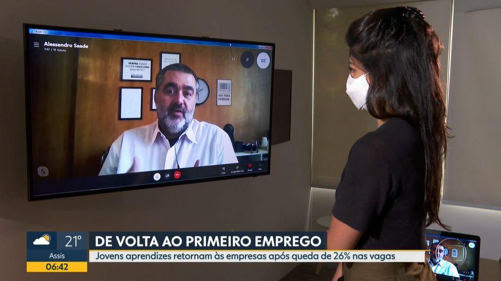 Pesquisa realizada com aprendizes Espro ganha destaque no Bom Dia SP da TV Globo