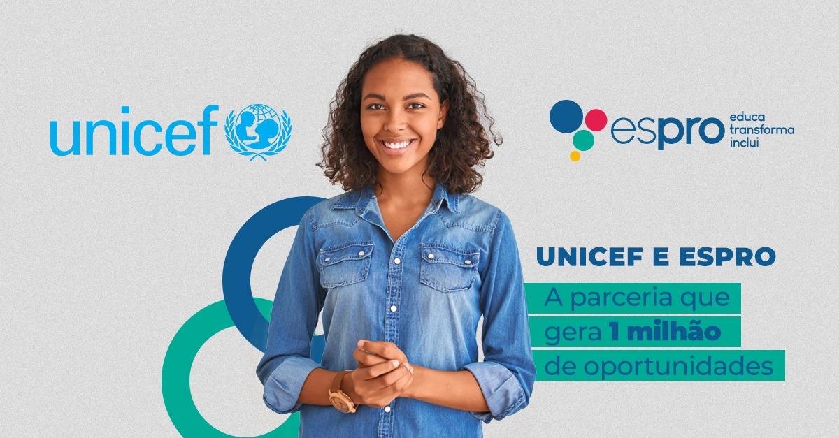 Espro e Unicef, uma parceira para um milhão de oportunidades