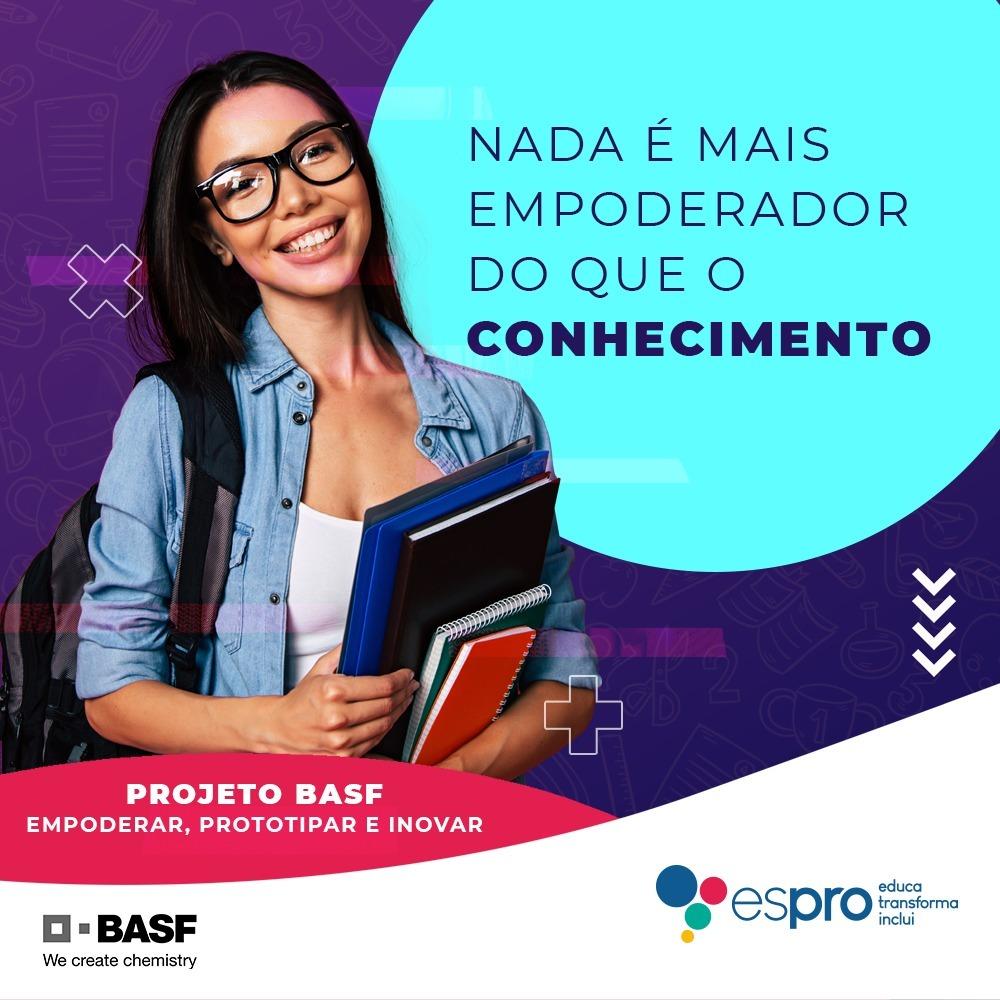 Parceria Espro e BASF capacita jovens meninas para novas transformações tecnológicas e científicas
